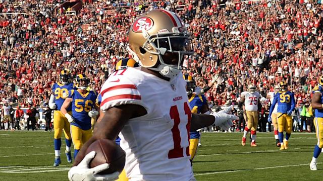 The San Francisco 49ers have signed former Olympic long jumper Marquise Goodwin to a three-year contract extension.