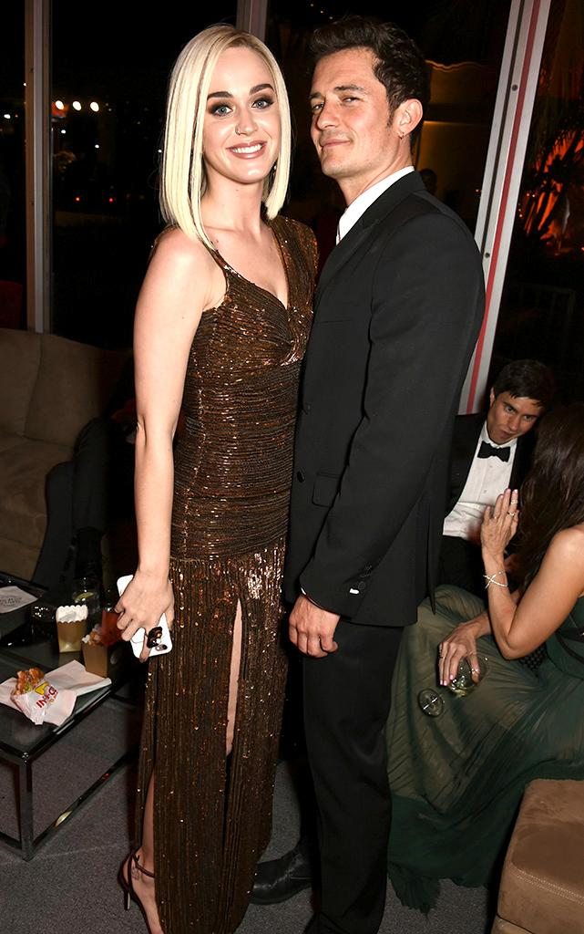 Katy Perry and Orlando Bloom at Oscars afterparty.