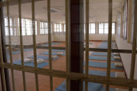 In this photo released by Department of Corrections, an empty room is seen at COVID-19 prisoners field hospital set up at Medical Correctional Institution to treat COVID-19 inmates, in Bangkok, Thailand, on May 8, 2021. Almost 3,000 inmates incarcerated at two prisons in Thailand's capital Bangkok have tested positive for COVID-19, the Corrections Department said Wednesday, May 12, 2021 as the Southeast Asian nation battles a virulent third wave of the coronavirus. (Department of Corrections, Thailand via AP)