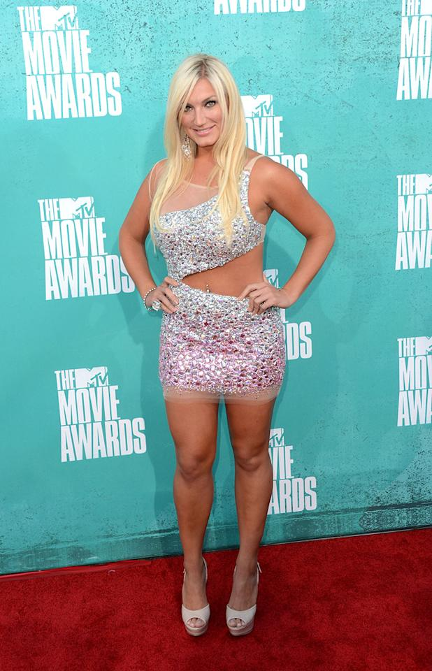 Brooke Hogan arrives at the 2012 MTV Movie Awards.