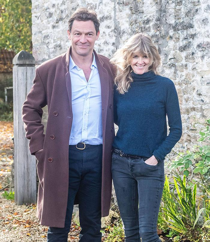 Dominic West con su esposa, Catherine