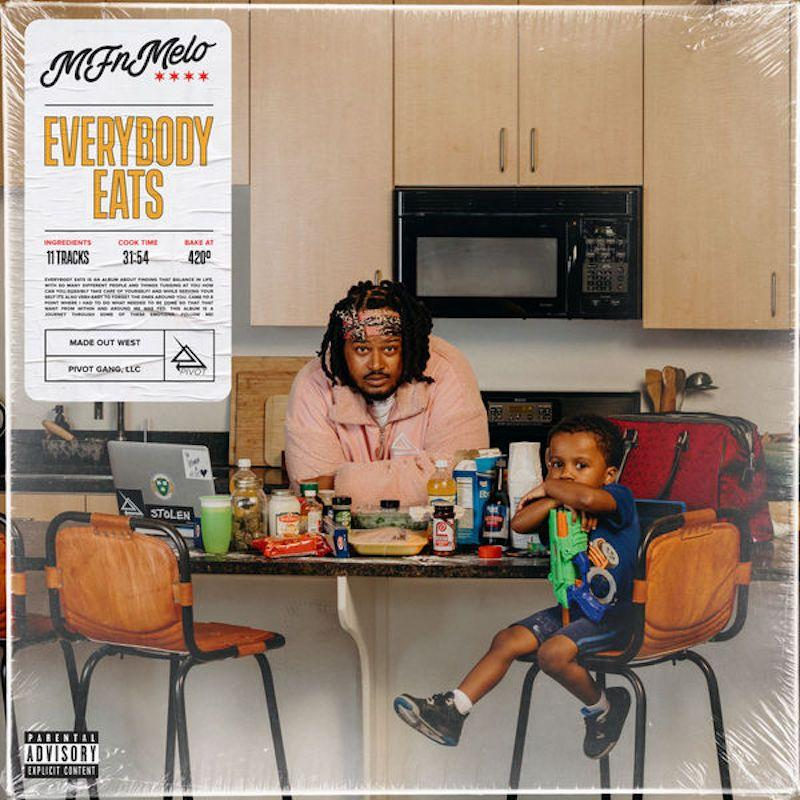 mfnmelo everybody eats album cover artwork Pivot Gangs MFnMelo and Saba link up for new song What a Life: Stream
