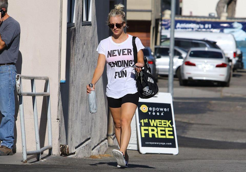 "<p>Kaley's all about keeping her kitchen clean. 'Our refrigerator and pantry have completely changed because we don't eat crap anymore,' <a href=""https://www.eatthis.com/kaley-cuoco-weight-loss/"" rel=""nofollow noopener"" target=""_blank"" data-ylk=""slk:she told"" class=""link rapid-noclick-resp"">she told </a><a href=""https://www.eatthis.com/kaley-cuoco-weight-loss/"" rel=""nofollow noopener"" target=""_blank"" data-ylk=""slk:Shape"" class=""link rapid-noclick-resp"">Shape</a>. 'No more soda, chips [crisps], cereal; we had boxes of stuff that only a 4-year-old would eat.'</p><p><strong>RELATED:</strong> Take a peek inside mega-trainer <a href=""https://www.womenshealthmag.com/uk/food/healthy-eating/a34193788/jillian-michaels-fridge-tour/"" rel=""nofollow noopener"" target=""_blank"" data-ylk=""slk:Jillian Michaels' fridge"" class=""link rapid-noclick-resp"">Jillian Michaels' fridge</a> for some healthy <a href=""https://www.womenshealthmag.com/uk/food/healthy-eating/a30608838/how-to-meal-prep/"" rel=""nofollow noopener"" target=""_blank"" data-ylk=""slk:meal-prep"" class=""link rapid-noclick-resp"">meal-prep</a> inspo.</p>"