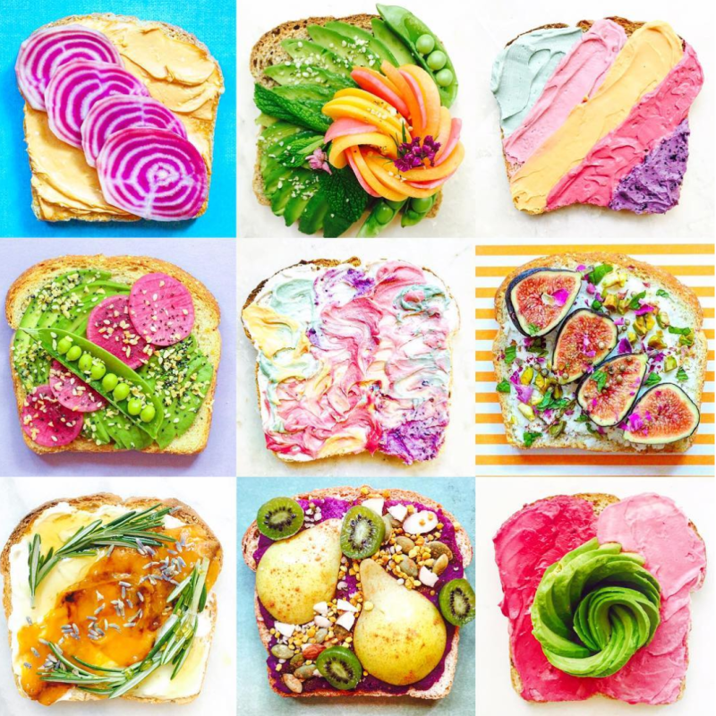 This gorgeous Instagram feed turns toast into works of art, and we are both hungry *and* amazed