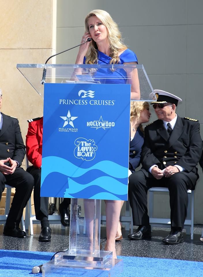 """Jan Swartz, president of Princess Cruises, attends a ceremony honoring the """"The Love Boat"""" with the Hollywood Walk Of Fame Honorary Star Plaque on May 10, 2018 in Hollywood, California."""