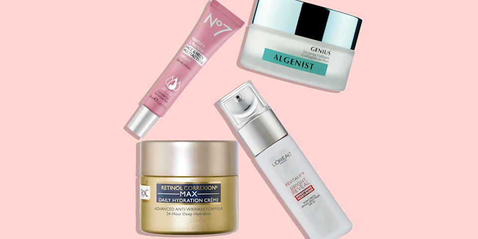 """<p>Collagen is a <a href=""""https://www.goodhousekeeping.com/beauty/anti-aging/a34102257/skincare-ingredient-dictionary/"""" rel=""""nofollow noopener"""" target=""""_blank"""" data-ylk=""""slk:buzzword in skincare"""" class=""""link rapid-noclick-resp"""">buzzword in skincare</a> — but there is some controversy about what the ingredient, a protein that's a building block of skin, can and can't do in <a href=""""https://www.goodhousekeeping.com/beauty/anti-aging/g28135730/best-skincare-products/"""" rel=""""nofollow noopener"""" target=""""_blank"""" data-ylk=""""slk:topical products"""" class=""""link rapid-noclick-resp"""">topical products</a>. """"Topical preparations containing collagen help the skin look smoother because they help it retain water,"""" explains <a href=""""https://glamderm.com/about-us/our-physicians/"""" rel=""""nofollow noopener"""" target=""""_blank"""" data-ylk=""""slk:Lian Mack, M.D."""" class=""""link rapid-noclick-resp"""">Lian Mack, M.D.</a> assistant clinical professor of dermatology at <a href=""""https://www.mountsinai.org/"""" rel=""""nofollow noopener"""" target=""""_blank"""" data-ylk=""""slk:Mount Sinai Hospital Center"""" class=""""link rapid-noclick-resp"""">Mount Sinai Hospital Center</a> in New York City. </p><p>""""When skin cells are plump and <a href=""""https://www.goodhousekeeping.com/beauty/anti-aging/g30470507/best-moisturizers-for-dry-skin/"""" rel=""""nofollow noopener"""" target=""""_blank"""" data-ylk=""""slk:fully hydrated"""" class=""""link rapid-noclick-resp"""">fully hydrated</a>, skin appears more supple and radiant."""" Plus, she adds that """"collagen rebuilding products help the skin <a href=""""https://www.goodhousekeeping.com/beauty-products/g723/anti-aging-skin-awards/"""" rel=""""nofollow noopener"""" target=""""_blank"""" data-ylk=""""slk:look more youthful"""" class=""""link rapid-noclick-resp"""">look more youthful</a> because the more collagen we have in our skin, the less sagging we see, along with fewer <a href=""""https://www.goodhousekeeping.com/beauty-products/g4083/best-anti-aging-serums/"""" rel=""""nofollow noopener"""" target=""""_blank"""" data-ylk=""""slk:fine lines and wrinkles"""" class=""""link rapid-no"""