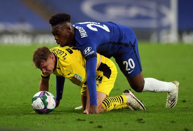 Callum Hudson-Odoi got close to his marker
