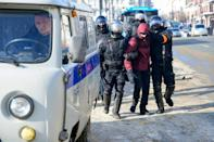 Russian authorities issued warnings against participating in the unauthorised rallies and threatened criminal charges against protesters