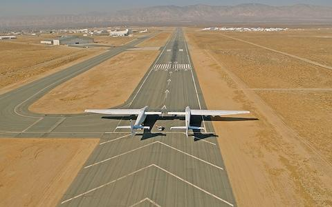 The Stratolaunch in the desert in California - Credit: Stratolaunch