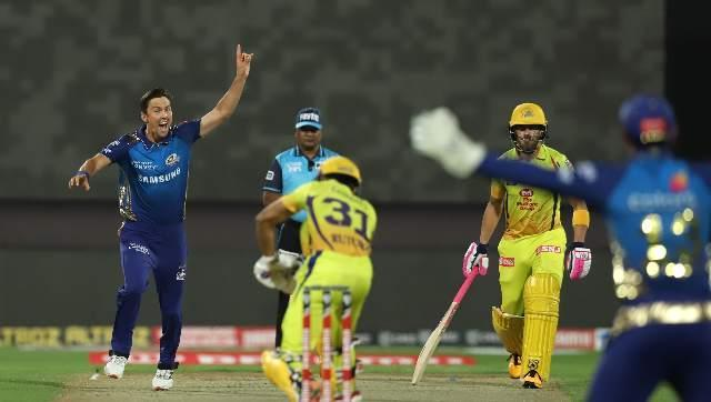 Ruturaj Gaikwad was the first to depart in the very first over after CSK were put to bat. He was struck leg before wicket by Boult. Sportzpics