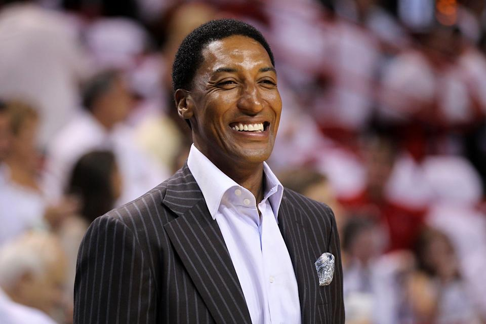 Scottie Pippen won six NBA titles with the Bulls.