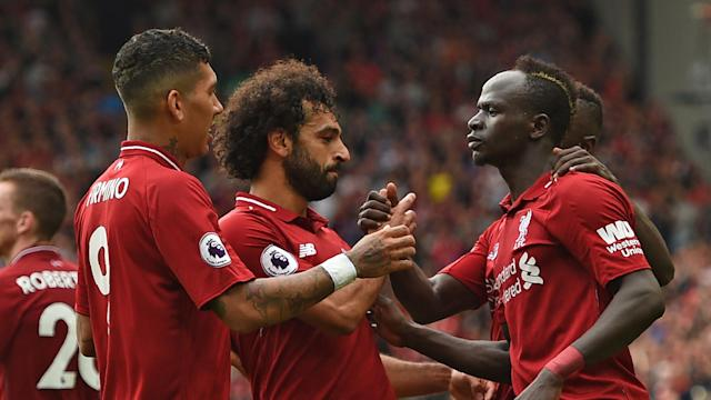 The Reds forward is delighted to see the Egyptian star back among the goals, with Jurgen Klopp looking to a fearsome attacking unit for inspiration