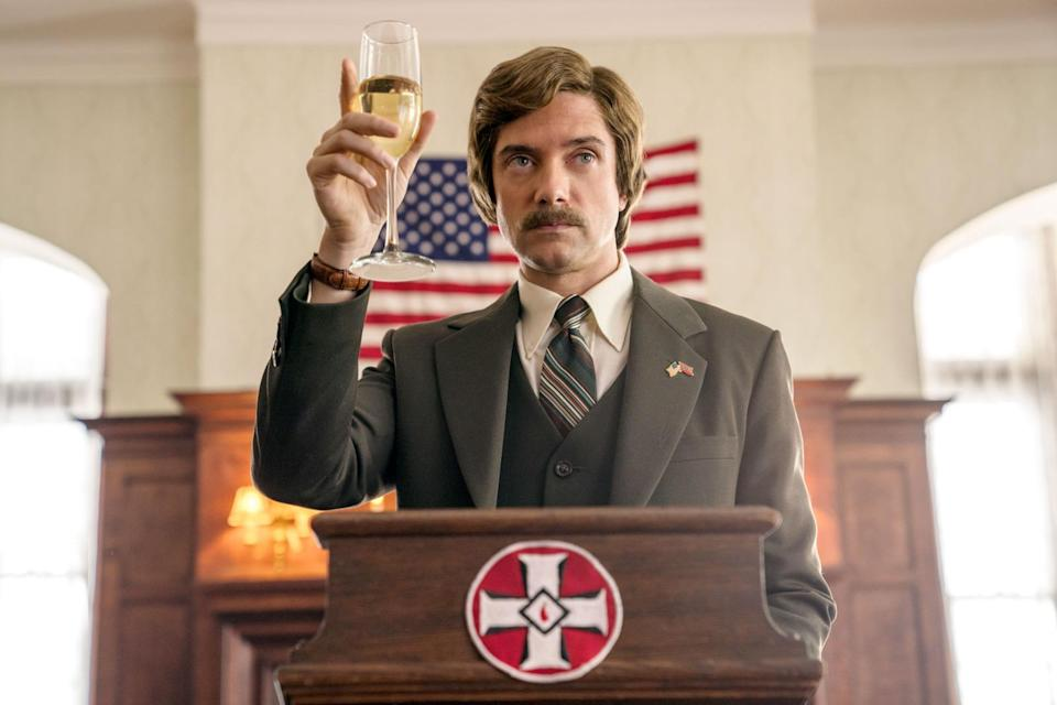 Topher Grace stars as David Duke in Spike Lee's BlacKkKlansman, a Focus Features release. Credit: David Lee / Focus Features
