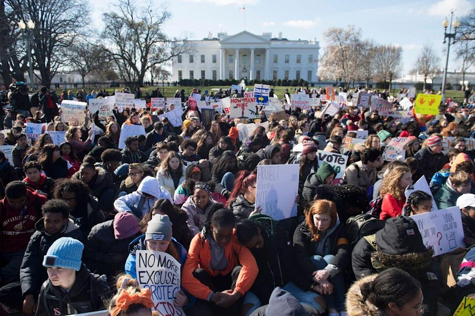 <p>Thousands of American students participated in a sit in for 17 minutes in honor of the 17 students killed at the Stoneman Douglas High School shooting in Parkland, Florida. This was part of the student-led protest, March for Our Lives, which advocated for gun control in the wake of countless school shootings across the nation. </p>
