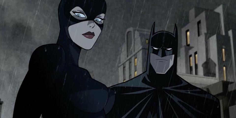 Batman and Catwoman, as they appear in The Long Halloween, Part One.