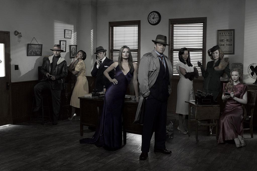 "The cast of ""Castle."""