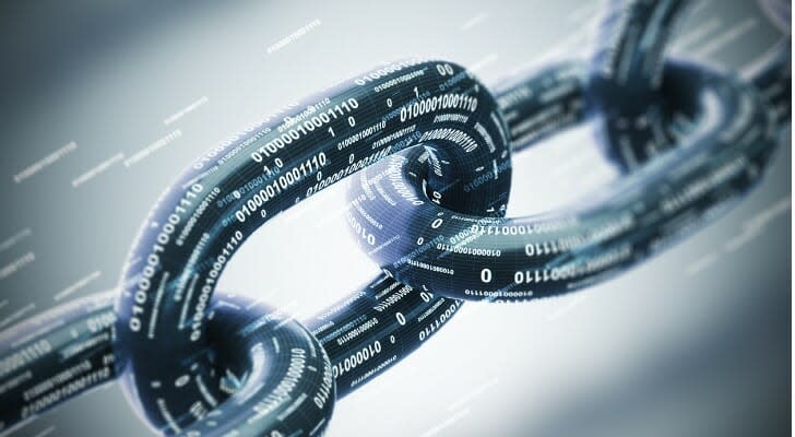 Links in a blockchain