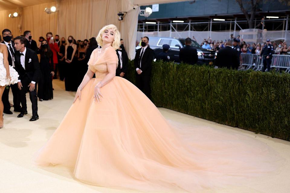 <p>The singer wore a vintage-inspired gown to the Met Gala.</p>