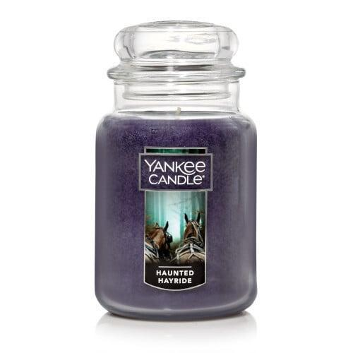 <p>You'll smell woodsy scents mixed with black pepper and nutmeg when you enjoy this <span>Haunted Hayride Original Large Jar Candle</span> ($30).</p>