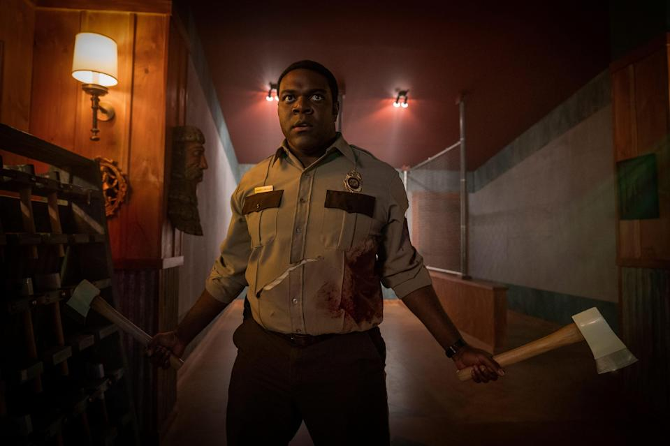 """Sam Richardson is a forest ranger investigating a series of strange creature attacks in the horror comedy """"Werewolves Within."""""""