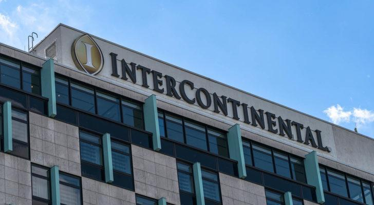 InterContinental Hotels (IHG) sign on a hotel
