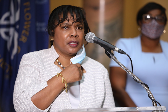 Mayor Lovely Warren namedCynthia Herriott-Sullivan, a former lieutenant with the Rochester Police Department as itsinterim chief Saturday morning.