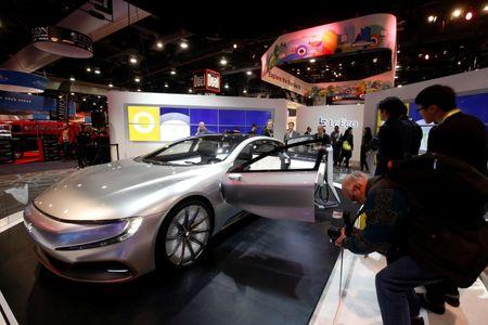 The LeSee Pro electric concept vehicle by LeEco is displayed during the 2017 CES in Las Vegas