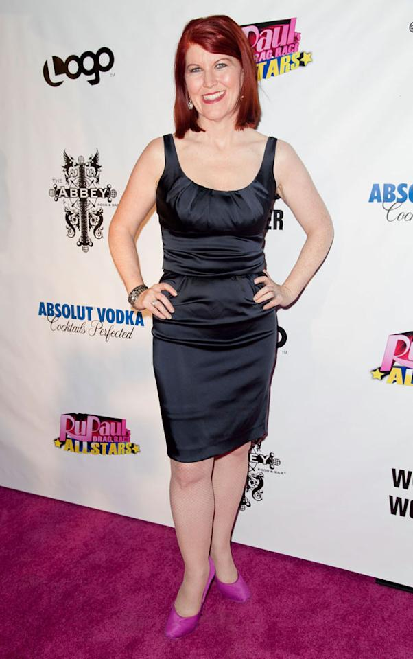 "Kate Flannery arrives at the ""RuPaul's Drag Race: All Stars"" Premiere Party at The Abbey on October 16, 2012 in West Hollywood, California."