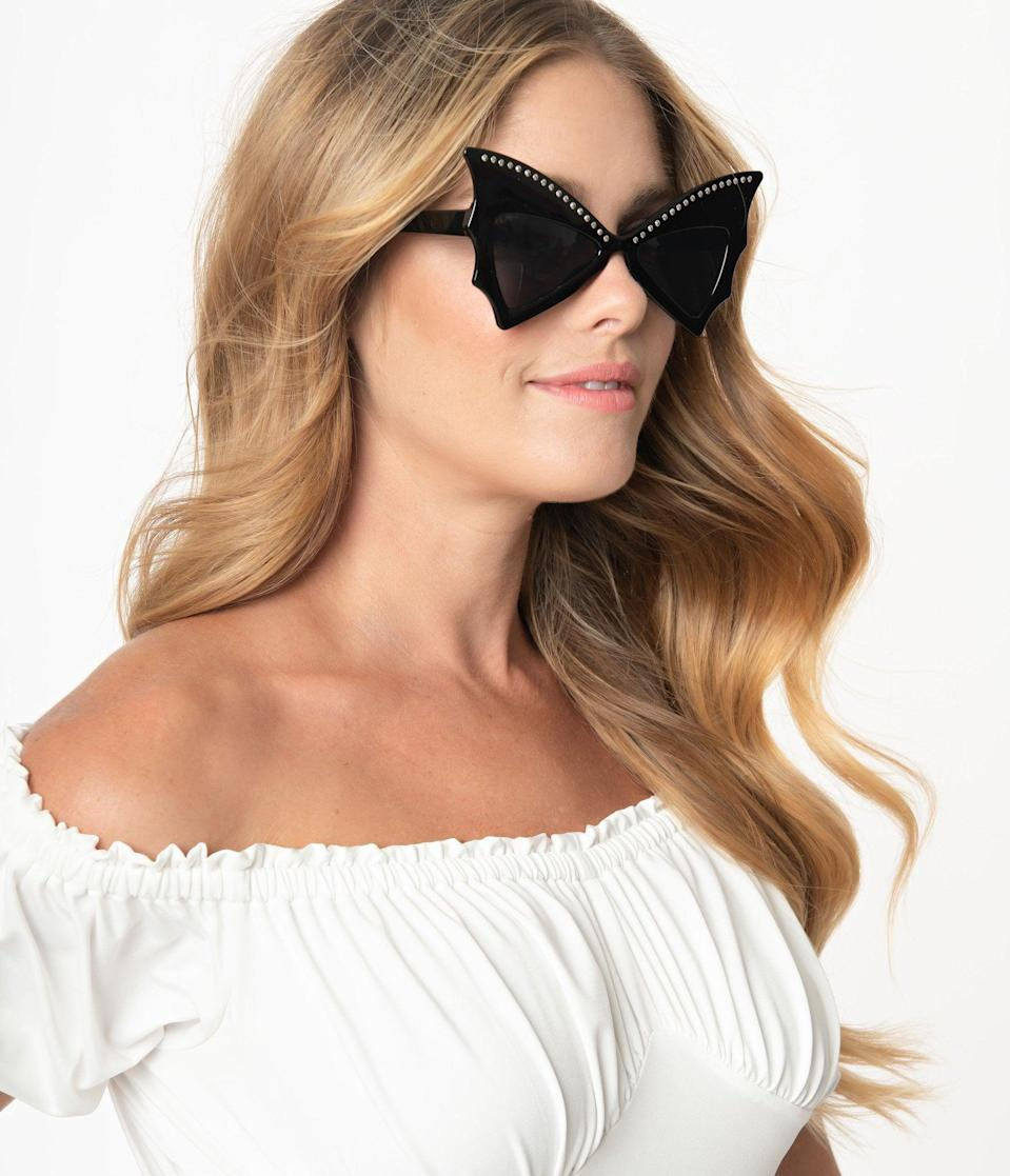 <p>Own your vampire roots with the <span>Unique Vintage Black Bat Wing Sunglasses</span> ($48).</p>