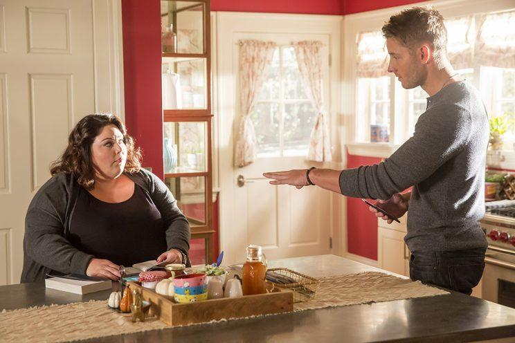 Chrissy Metz as Kate and Justin Hartley as Kevin (Credit: Ron Batzdorff/NBC)