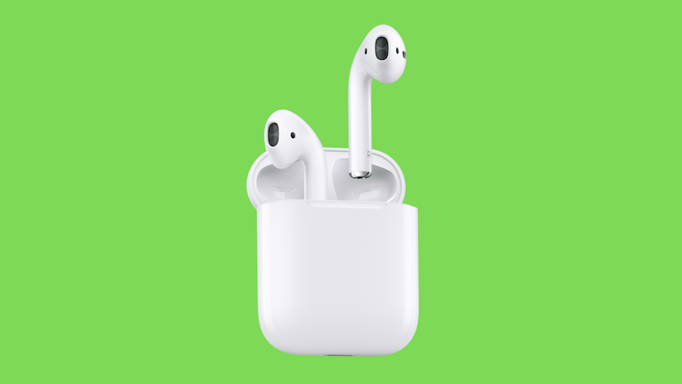 Save 49 bucks on these elegant AirPods. (Photo: Apple)