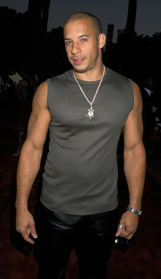 """<a href=""""http://movies.yahoo.com/movie/contributor/1800020716"""">Vin Diesel</a> at the Los Angeles premiere of <a href=""""http://movies.yahoo.com/movie/1800354946/info"""">Nutty Professor II: The Klumps</a> - 07/24/2000"""