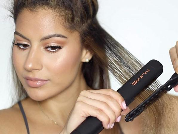 The NuMe Megastar Hair Straightener is on sale for 40% off (Photo: Yahoo Lifestyle Shop)