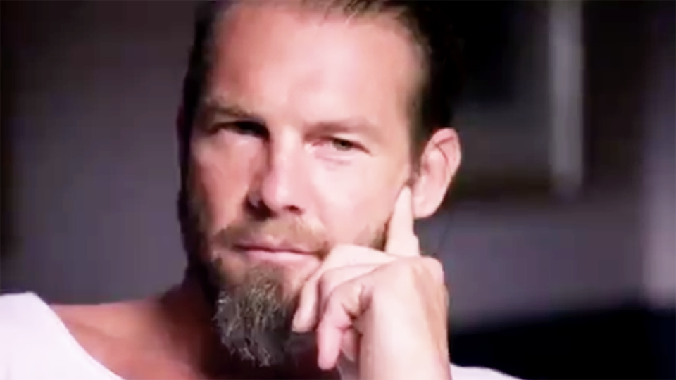 Former AFL champion Ben Cousins is pictured in a screenshot from an interview on Channel 7 in April, 2020.