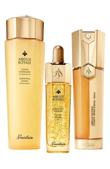 """<p>""""The Guerlain Abeille Royale line is the definition of luxury. Seriously, products like the Youth Watery Oil are almost too beautiful to use. Each of these contains four different kinds of honey: Ouessant Island honey, Corsican honey, New Zealand clover honey, and Guerlain's exclusive Royal Jelly, harvested in France. Careful: you'll probably have to stop yourself from keeping the <span>Guerlain Abeille Royale Anti Aging Bestsellers Set</span> ($236) rather than gifting."""" - AK</p>"""