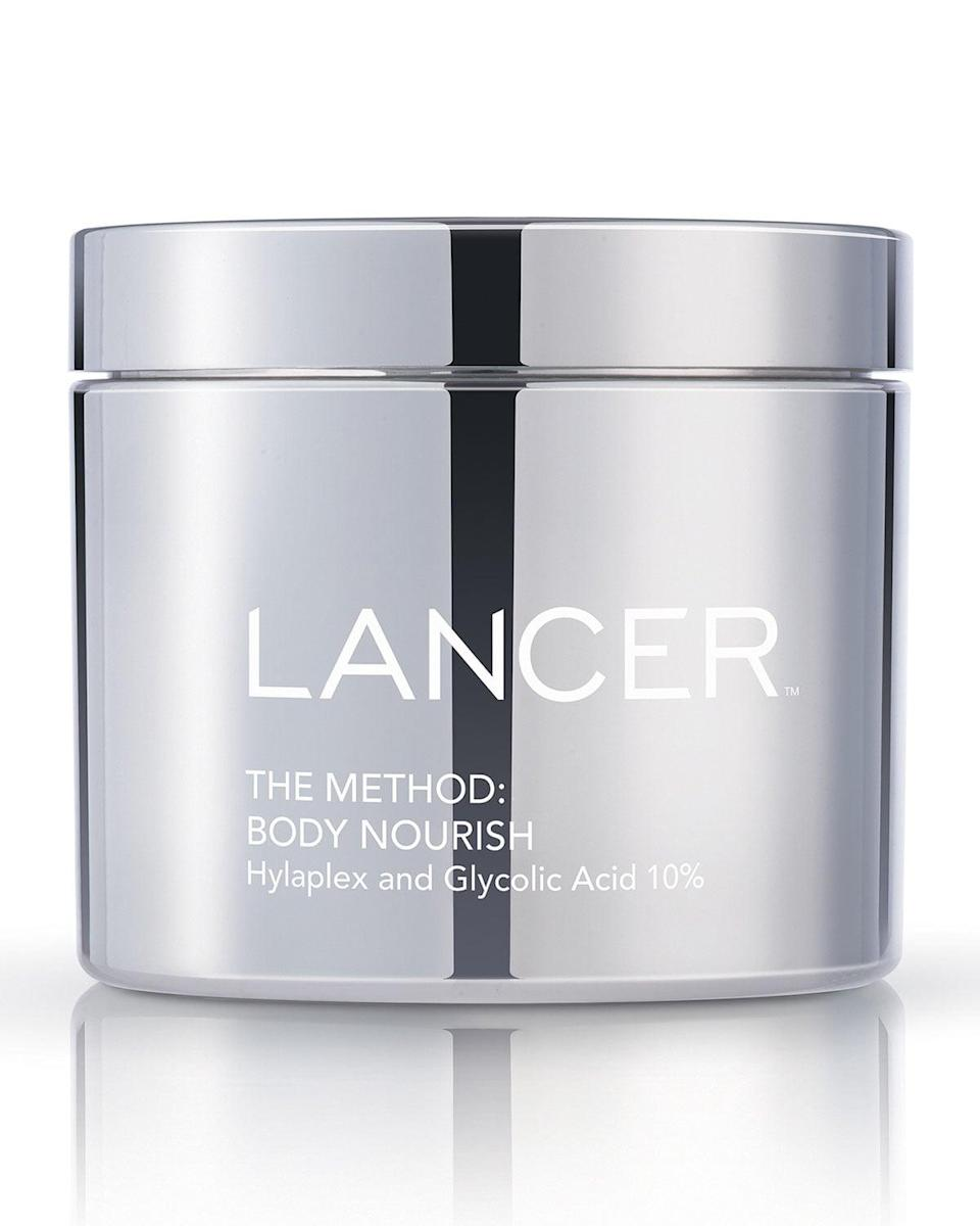 <p>We spend so much time focusing on our face, but we shouldn't neglect the rest of our body. This <span>Lancer The Method: Body Nourish Cream</span> ($65) is some of the most luxurious body cream we've ever seen. The watermelon extract locks in moisture and leaves your skin smooth and exfoliated.</p>