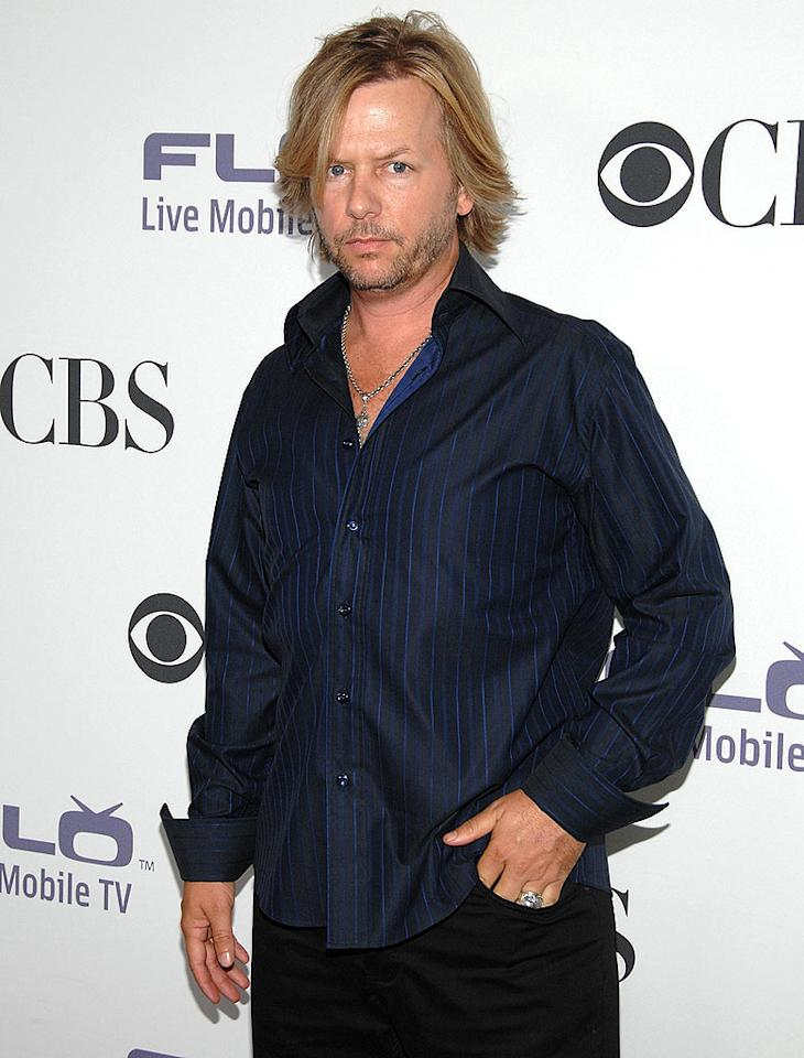 """Between his messy hair, untucked shirt, and grumpy face, new dad David Spade (""""Rules of Engagement"""") was not exactly looking his best! Jean-Paul Aussenard/<a href=""""http://www.wireimage.com"""" target=""""new"""">WireImage.com</a> - September 17, 2008"""