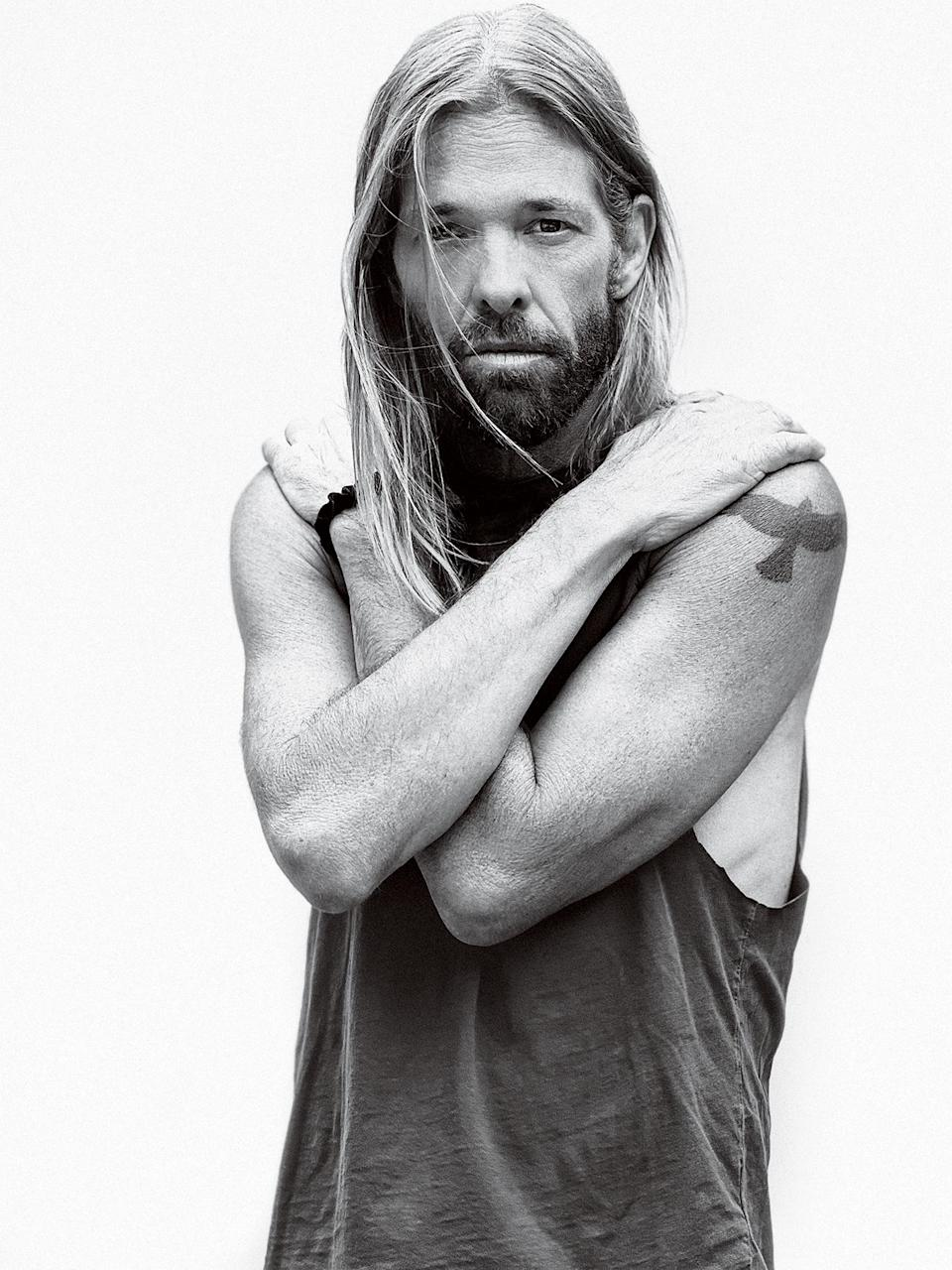Taylor Hawkins, photographed in Los Angeles on June 10th, 2021. - Credit: Photograph by Jason Nocito for Rolling Stone