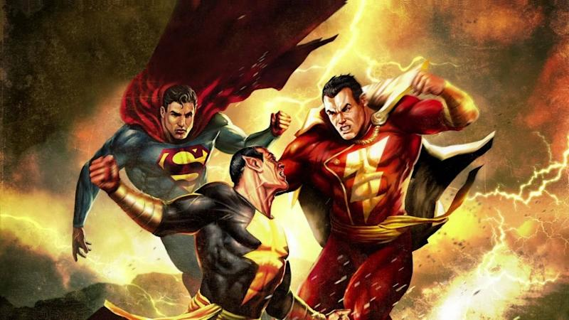 A glimpse of the future...? Superman and Shazam battling Black Adam (credit: DC Comics)