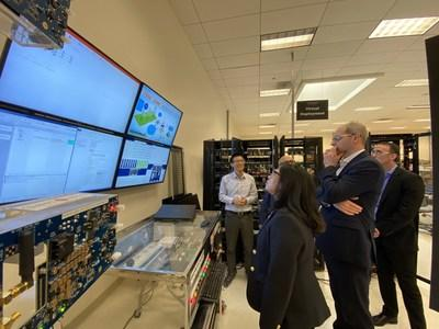 David Wright visiting Smart Wires Global Research and Development Center