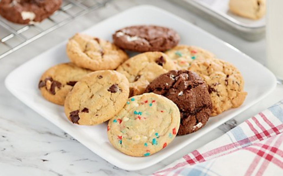 Feast your eyes on these chocolate chunk, oatmeal raisin, s'mores, and patriotic cookies. (Photo: QVC)