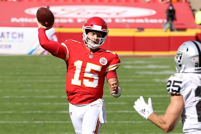 We could see Patrick Mahomes play on a Monday afternoon. (Photo by Jamie Squire/Getty Images)