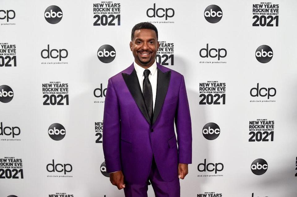 LOS ANGELES, CA – DECEMBER 31st: In this image released on December 31, Alfonso Ribeiro arrives at Dick Clark's New Year's Rockin' Eve with Ryan Seacrest 2021 broadcast on December 31, 2020 and January 1, 2021. (Photo by Alberto E. Rodriguez/Getty Images for dick clark productions)