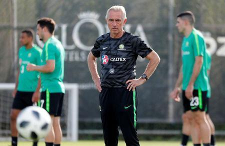 Soccer Football - FIFA World Cup - Australia Training - Antalya, Turkey - May 29, 2018 Australia coach Bert van Marwijk during training REUTERS/Murad Sezer