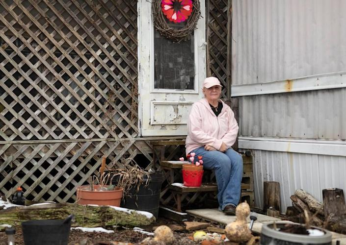 Mindy Davenport, 57, lived in North Fork Mobile Home Park for over 20 years in Morehead, Ky., Thursday, February 4, 2021.