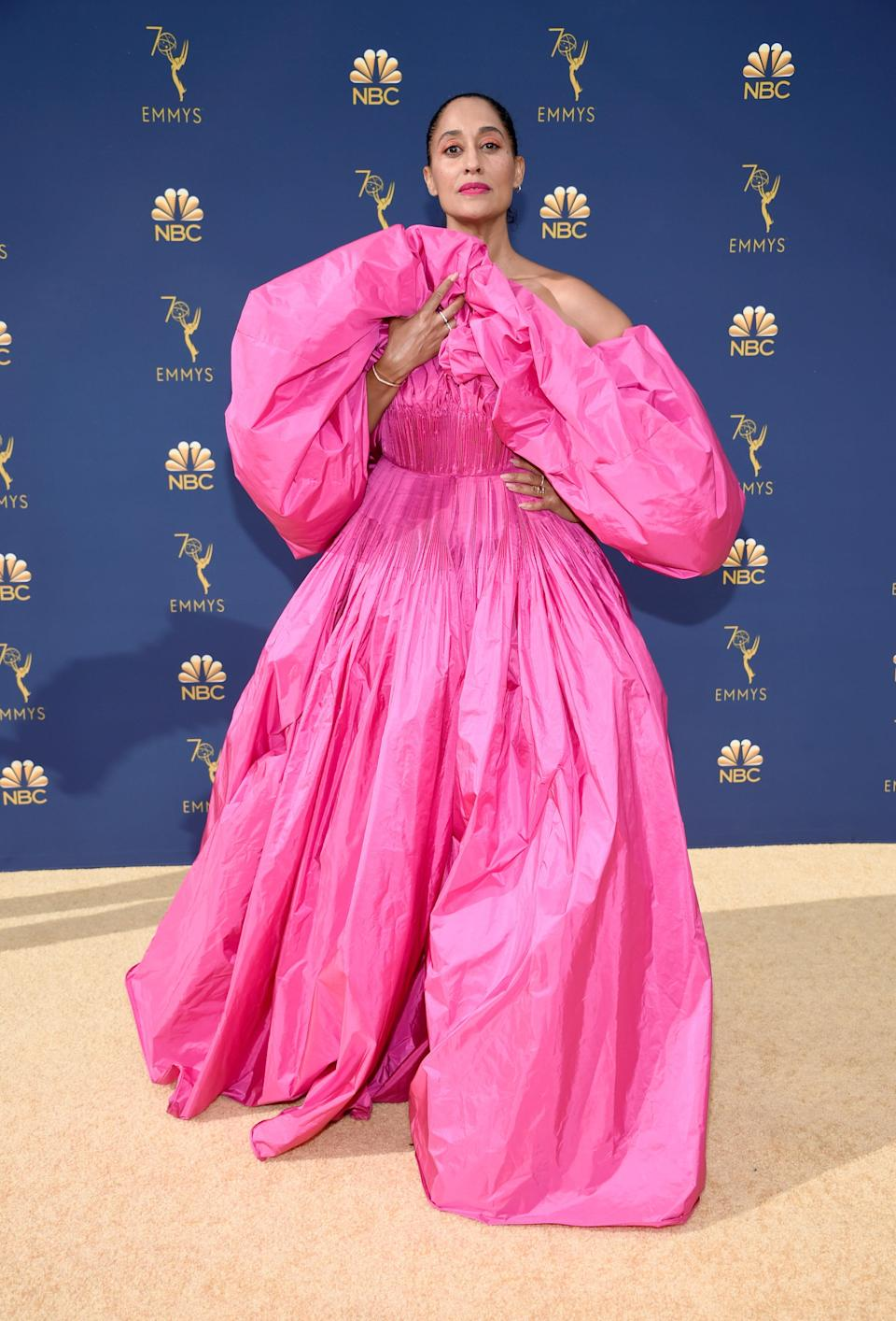 Tracee Ellis Ross arrives to the 70th Annual Primetime Emmy Awards held at the Microsoft Theater on September 17, 2018 (Kevin Mazur via Getty Images)