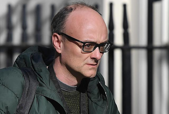 Dominic Cummings arrives at 10 Downing Street. (Getty Images)