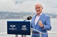 Conservative Party leader Erin O'Toole at an election campaign visit to Vancouver