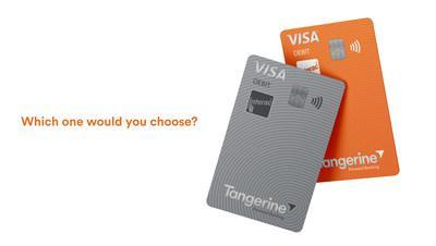 Tangerine Visa Debit will be available in two card designs for Clients to choose from (CNW Group/Tangerine)