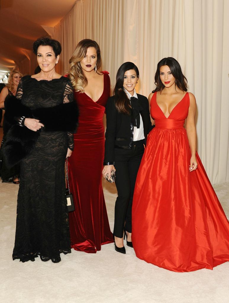Kris Jenner shared a throwback holiday photo of the Kardashian sisters to usher in December. (Photo: Getty)